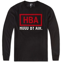 Hood By Air Long Sleeve Rage Box Logo Tee Black And Red