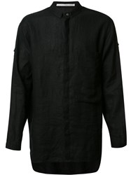 Isabel Benenato Linen Shirt Black