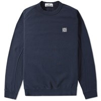 Stone Island Chest Patch Crew Sweat Blue