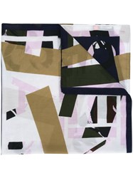 Kenzo Printed Scarf Nude Neutrals