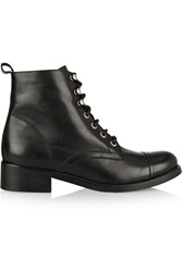 Maje Leather Boots Black