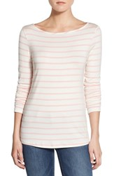 Women's Amour Vert 'Francoise' Nautical Long Sleeve Top Pink Stripe