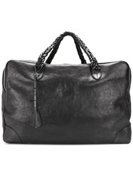Golden Goose Deluxe Brand Equipage Bag Unisex Cotton Leather One Size Black