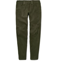 Arcteryx Veilance Arc'teryx Voronoi Slim Fit Tapered Cotton Blend Trousers Army Green