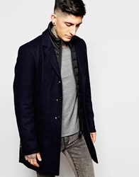 Scotch And Soda Overcoat With Insert Night