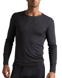 Hanro Woolen Silk Thermal Shirt Anthracite