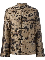 For Restless Sleepers Animal Print Jacket Nude And Neutrals
