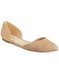 Bar Iii Luna Perforated Two Piece Flats Only At Macy's Women's Shoes Dark Croissant