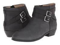 Softwalk Rancho Black Distressed Nubuck Leather Women's Boots Gray