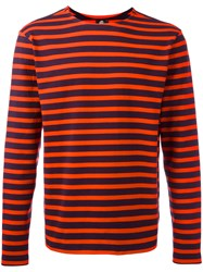 Paul Smith Ps By Breton Stripe T Shirt Red
