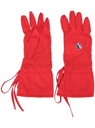 Raf Simons Apollo Print Gloves Red