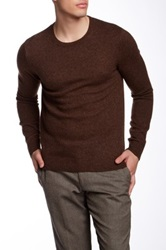 14Th And Union Wool Blend Crew Sweater Brown