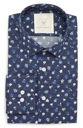 Strong Suit By Ilaria Urbinati Edmond Slim Fit Floral Dress Shirt Navy