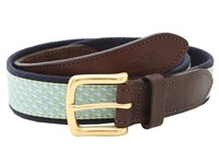 Vineyard Vines Vineyard Whale Canvas Club Belt Green Men's Belts
