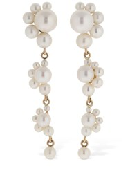 Sophie Bille Brahe Notte Grande Pearl Pendant Earrings