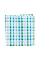 Jack Spade Avery Gingham Pocket Square Green