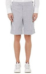 Moncler Gamme Bleu Men's Seersucker Bermuda Shorts Grey