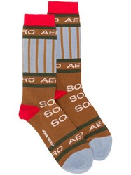 Henrik Vibskov Soap Long Socks Brown
