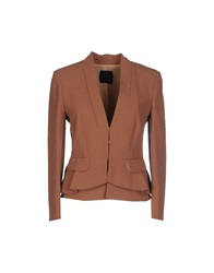 Pinko Black Blazers Skin Color