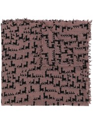 Hemisphere Patterned Scarf Brown