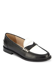 Cole Haan Mazie Colorblock Leather Loafers Black White