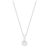 Ibb 9Ct White Gold Cubic Zirconia Pendant White