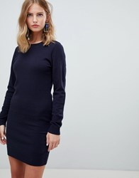 Only Knitted Crew Neck Dress Night Sky Navy