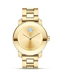Movado Bold Yellow Gold Plated Museum Dial Watch 36Mm No Color