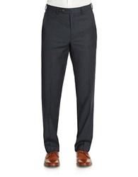 Lauren Ralph Lauren Classic Fit Navy Sharkskin Double Pleat Pant