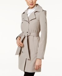 Calvin Klein Hooded Belted Raincoat Thistle