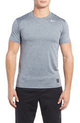 Nike Men's Fitted Dri Fit Training T Shirt Cool Grey White