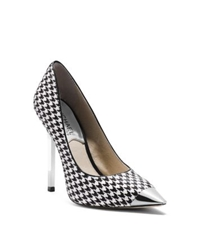 Michael Kors Zady Houndstooth Hair Calf Pump Black White