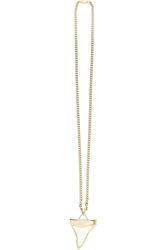 Givenchy Shark Tooth Necklace In Pale Gold Tone And Skate