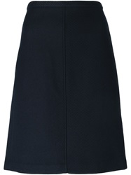 Theory A Line Midi Skirt Blue