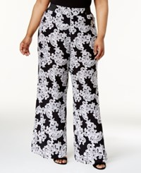 Inc International Concepts Plus Size Floral Print Wide Leg Pants Only At Macy's Lace Flower