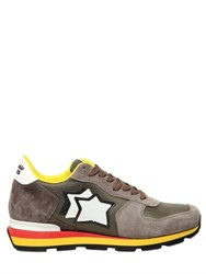 Atlantic Stars Suede And Nylon Running Sneakers
