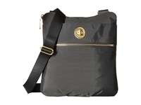 Baggallini Gold Hanover Crossbody Charcoal Cross Body Handbags Gray