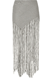Proenza Schouler Fringed Basketweave Canvas Maxi Skirt