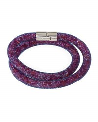 Swarovski Stardust Convertible Crystal Mesh Bracelet Choker Light Purple Multi