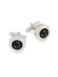 Saks Fifth Avenue Compass Cuff Links Silver