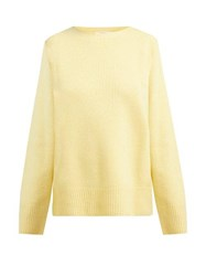 The Row Sibel Wool And Cashmere Blend Sweater Yellow