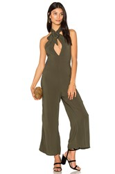 Blue Life Electra Tie Front Jumpsuit Olive