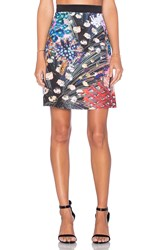 Clover Canyon Etched Blooms Skirt Black