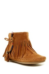 Rock And Candy Martha Fringe Moccasin Booties Brown
