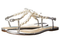 Blue By Betsey Johnson Pearl Silver Metal Women's Dress Sandals