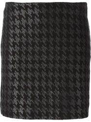 Muubaa Houndstooth Skirt Black
