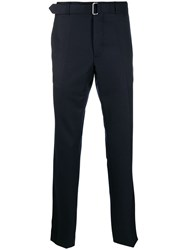 Officine Generale Paul Straight Leg Trousers Blue
