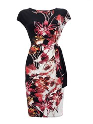 Wallis Pink Lily Tie Side Dress Multi Coloured