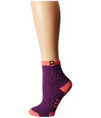 Life Is Good Lightweight Snuggle Crew Sock Smoky Plum Women's Crew Cut Socks Shoes Black