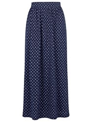 Fat Face Josie Batik Ditsy Maxi Skirt Navy